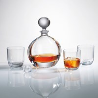 Bohemia Orbit Crystal Decanter Set with 6 Orbit Glasses